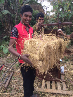 first straw bale in Nepal